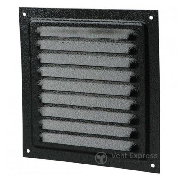 Приточно-вытяжная решетка металлическая однорядная VENTS МВМ 150с черная