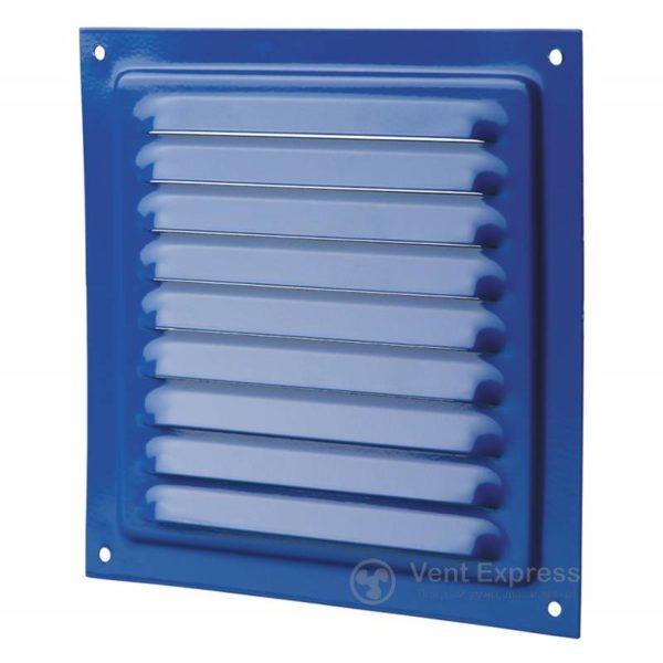 Приточно-вытяжная решетка металлическая однорядная VENTS МВМ 250с синяя