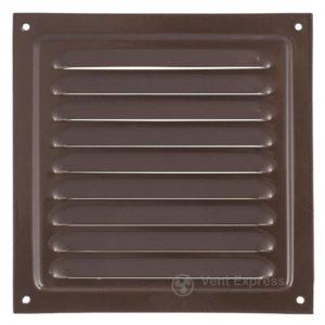 Приточно-вытяжная решетка металлическая однорядная VENTS МВМ 200с коричневая