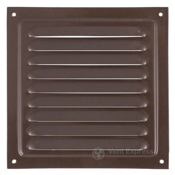 Приточно-вытяжная решетка металлическая однорядная VENTS МВМ 125с коричневая