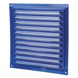 Приточно-вытяжная решетка металлическая однорядная VENTS МВМ 200с синяя