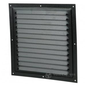 Приточно-вытяжная решетка металлическая однорядная VENTS МВМ 250с черная