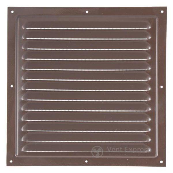 Приточно-вытяжная решетка металлическая однорядная VENTS МВМ 250с коричневая