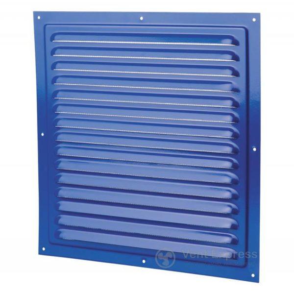 Приточно-вытяжная решетка металлическая однорядная VENTS МВМ 300с синяя