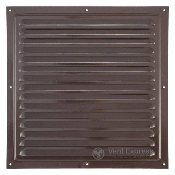 Приточно-вытяжная решетка металлическая однорядная VENTS МВМ 300с коричневая