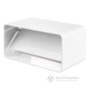 Соеденитель каналов VENTS Пластивент 90×220 с клапаном (9191)