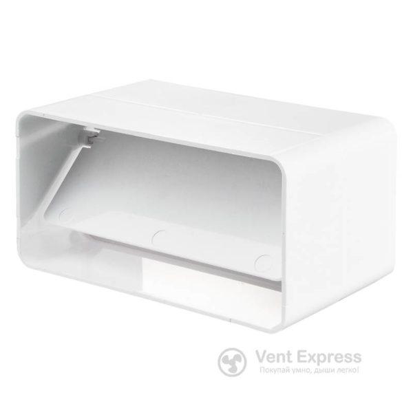 Соединитель каналов VENTS Пластивент 55х110 с клапаном (5151)