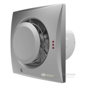 Вытяжной вентилятор VENTS Квайт-Диск 100 алюм. лак