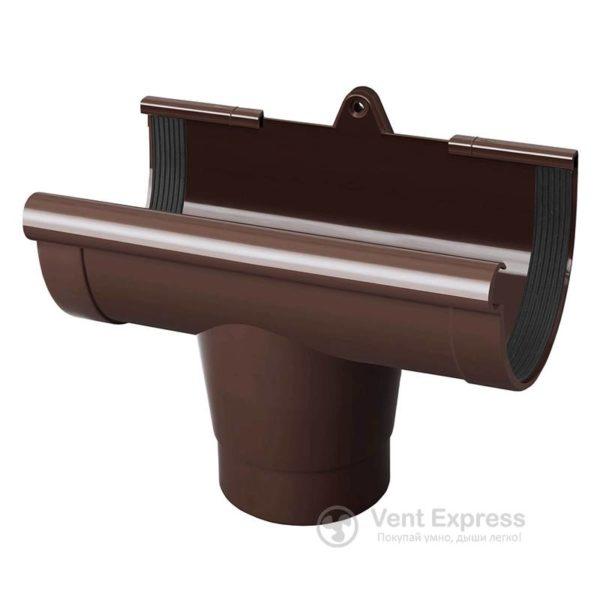 Воронка желоба RainWay 130 мм, коричневая