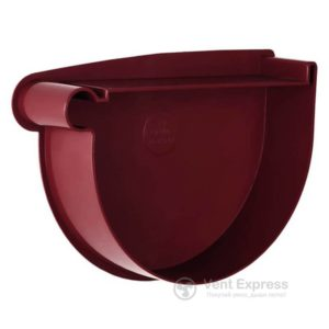Заглушка воронки RainWay левая 130 мм, красная