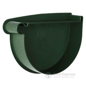 Заглушка воронки RainWay левая 130 мм, зеленая