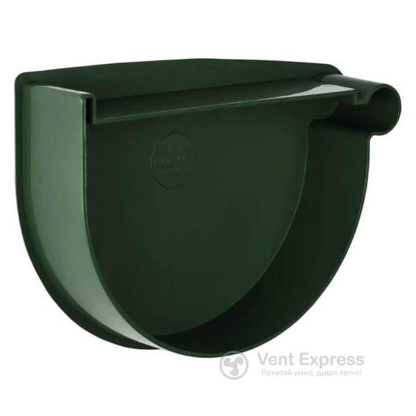 Заглушка воронки RainWay правая 90 мм, зеленая