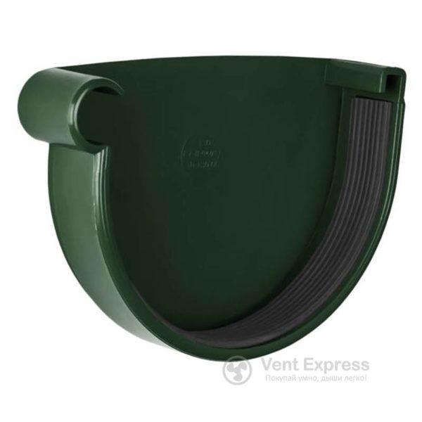 Заглушка желоба RainWay левая 130 мм, зеленая