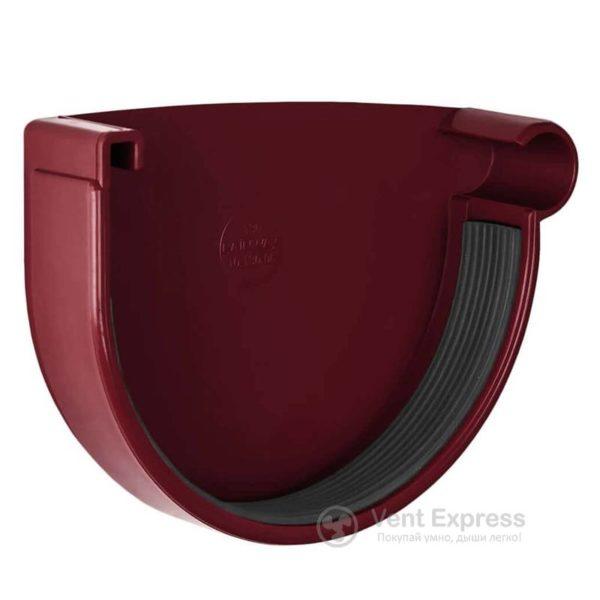 Заглушка желоба RainWay правая 130 мм, красная