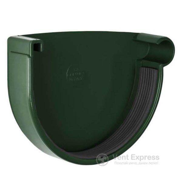 Заглушка желоба RainWay правая 130 мм, зеленая