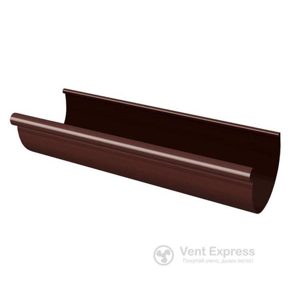Желоб водосточный RainWay 130×1000 мм, коричневый