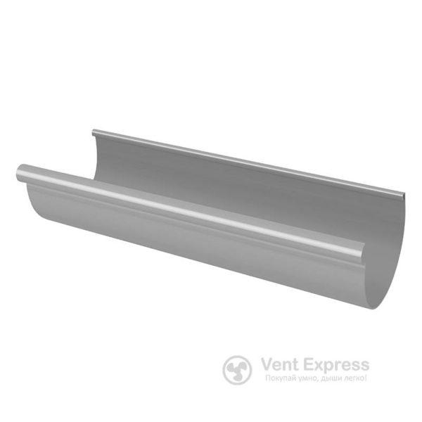 Желоб водосточный RainWay 130×1000 мм, серый