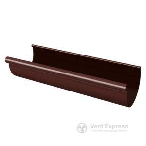Желоб водосточный RainWay 130×3000 мм, коричневый